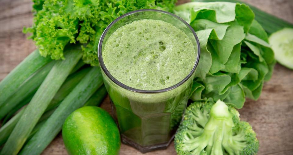 smoothies verts riche en chlorophylle