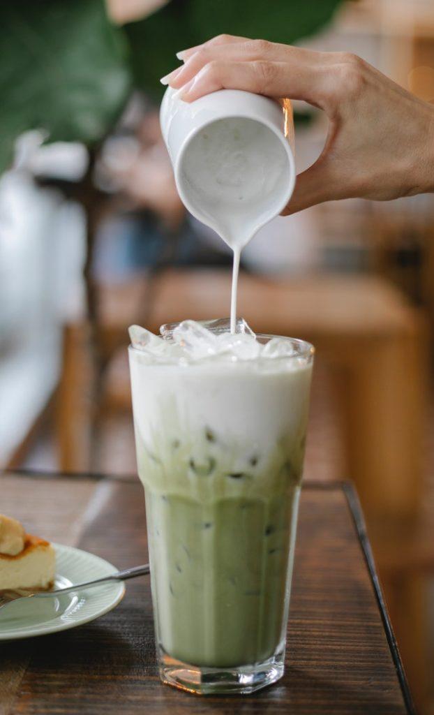 thé matcha au lait